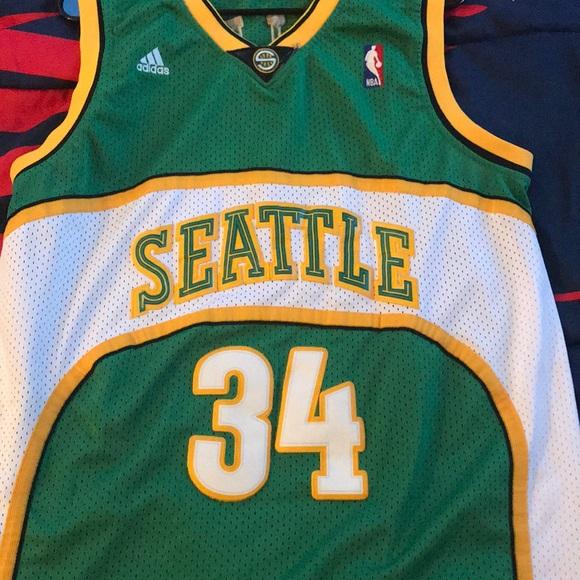 best sneakers 06054 1614f Retro Seattle SuperSonics Ray Allen jersey